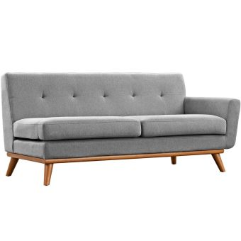 Engage Right-Arm Upholstered Fabric Loveseat (Expectation Gray)
