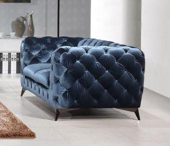 ✅ Glitz Love Seat in Blue | VivaSalotti.com | pic4