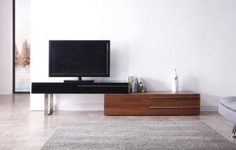 ✅ Hudson TV Base in Walnut & Black | VivaSalotti.com | pic