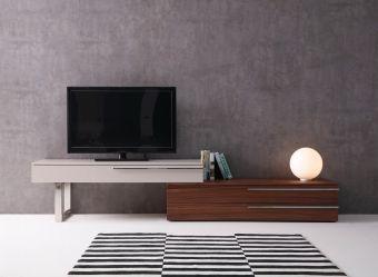 ✅ Hudson TV Base in Walnut & Taupe | VivaSalotti.com | pic