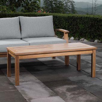 ✅ Marina Outdoor Patio Teak Rectangle Coffee Table | VivaSalotti.com | pic