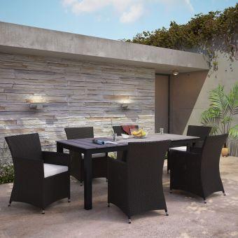 ✅ Junction 7 Piece Outdoor Patio Dining Set | VivaSalotti.com | pic