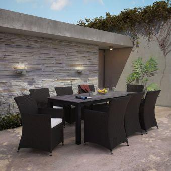 ✅ Junction 9 Piece Outdoor Patio Dining Set | VivaSalotti.com | pic