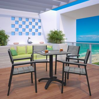 ✅ Maine 5 Piece Outdoor Patio Dining Set | VivaSalotti.com | pic