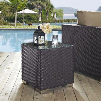✅ Convene Outdoor Patio Side Table in Espresso | VivaSalotti.com | pic