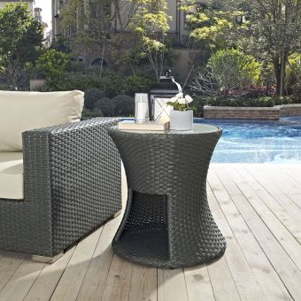 ✅ Sojourn Round Outdoor Patio Side Table   VivaSalotti.com   pic