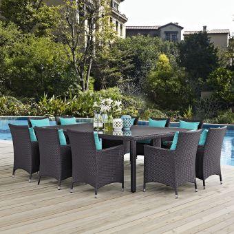 ✅ Convene 11 Piece Outdoor Patio Dining Set | VivaSalotti.com | pic