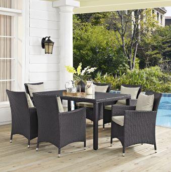 ✅ Convene 7 Piece Outdoor Patio Dining Set | VivaSalotti.com | pic