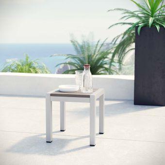 ✅ Shore Outdoor Patio Aluminum Side Table   VivaSalotti.com   pic