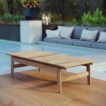 ✅ Bayport Outdoor Patio Teak Coffee Table | VivaSalotti.com | pic
