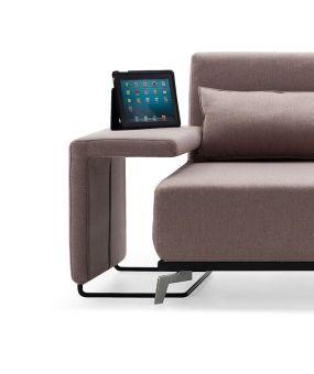 ✅ Premium Sofa Bed End Table JH033 in Beige Fabric | VivaSalotti.com | pic