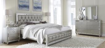 ✅ Riley Silver Bedroom Set | VivaSalotti.com | pic