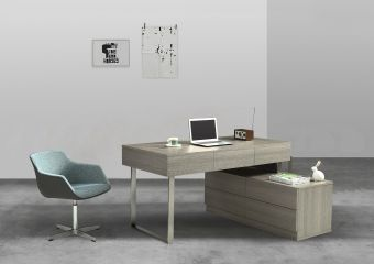 ✅ KD12 Office Desk in Matte Grey | VivaSalotti.com | pic1