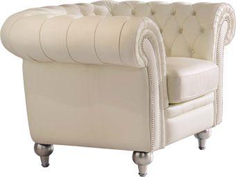 ✅ 287 Tufted Cream Chair by ESF | VivaSalotti.com | pic