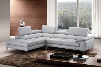✅ Olivia Premium Leather Sectional In Left Facing Chaise   VivaSalotti.com   pic1