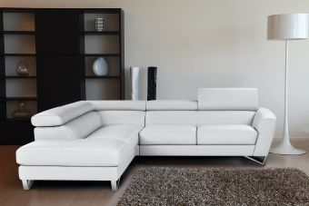 ✅ Sparta Mini Left Hand Facing Chaise in White | VivaSalotti.com | pic2