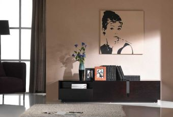 ✅ TV Stand 027 in Dark Oak | VivaSalotti.com | pic