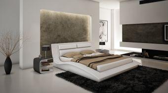 ✅ Wave King Size Bed in White   VivaSalotti.com   pic1