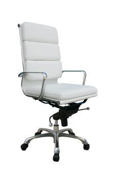 ✅ Plush White High Back Office Chair   VivaSalotti.com   pic2