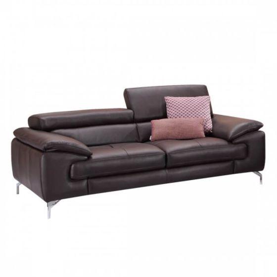 ✅ A973 Premium Leather Sofa, Coffee   VivaSalotti.com   pic1
