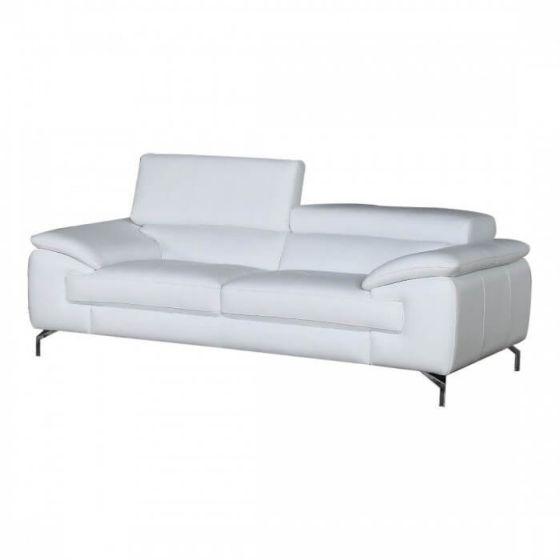 ✅ A973 Premium Leather Sofa, White   VivaSalotti.com   pic