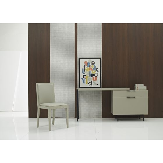 ✅ Angel Modern Office Desk with Storage Drawers, Taupe | VivaSalotti.com | pic