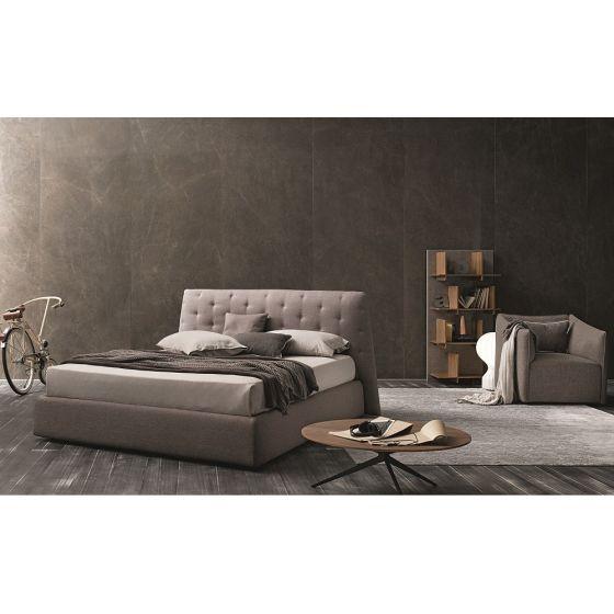 ✅ Atrium Fabric Tufted Queen Size Storage Bed, Taupe Grey | VivaSalotti.com | pic