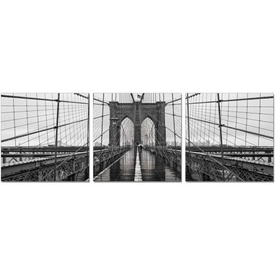 ✅ Premium Acrylic 3-Piece Wall Art Brooklyn Bridge Classic-SH-71438ABC   VivaSalotti.com   pic1