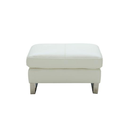 ✅ Constantin Premium Leather Ottoman, White | VivaSalotti.com | pic3
