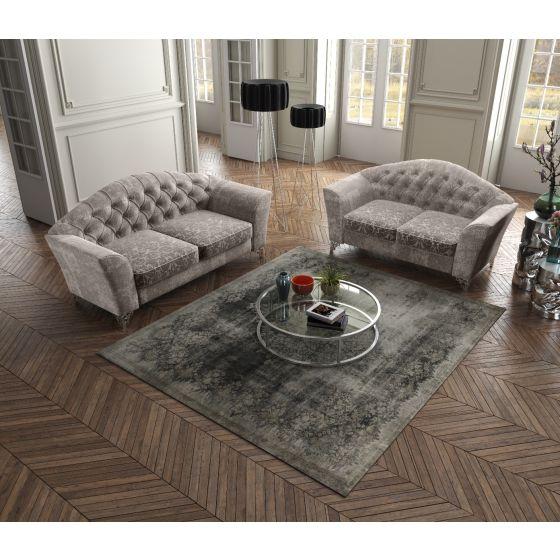 ✅ The Divina Fabric Loveseat, Taupe | VivaSalotti.com | pic3