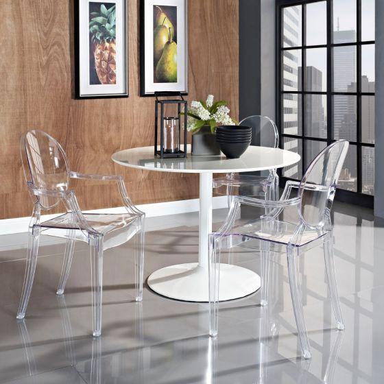 ✅ Casper Dining Armchair (Clear) | VivaSalotti.com | pic