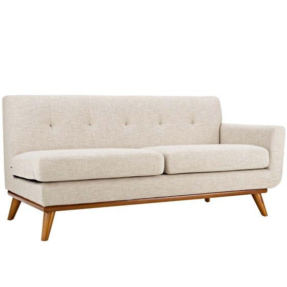 ✅ Engage Right-Arm Upholstered Fabric Loveseat (Beige)   VivaSalotti.com   pic1