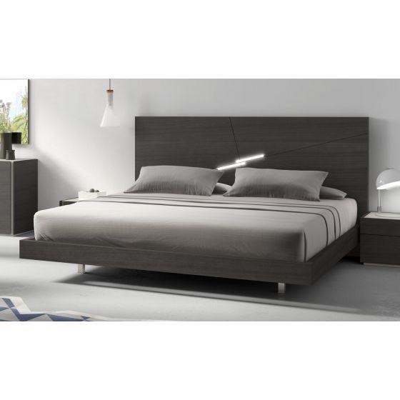 ✅ Faro Premium Queen Size Platform Bed, Wenge | VivaSalotti.com | pic3