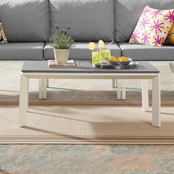 ✅ Riverside Aluminum Outdoor Patio Coffee Table in White   VivaSalotti.com   pic1