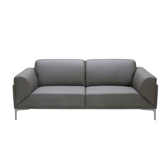 ✅ King Leather Sofa, Grey   VivaSalotti.com   pic2