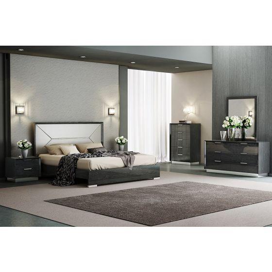 ✅ Monte Leone Queen Size Panel Bed, Grey   VivaSalotti.com   pic