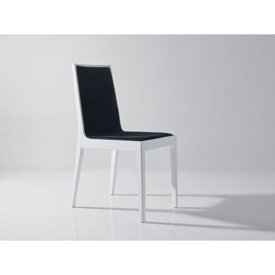✅ Star Modern Velvet Dining Chair, White/Black | VivaSalotti.com | pic1