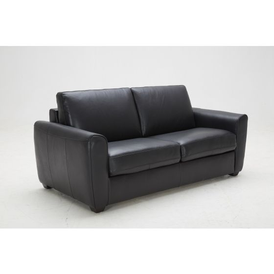 ✅ Ventura Premium Leather Soda Bed, Black | VivaSalotti.com | pic1